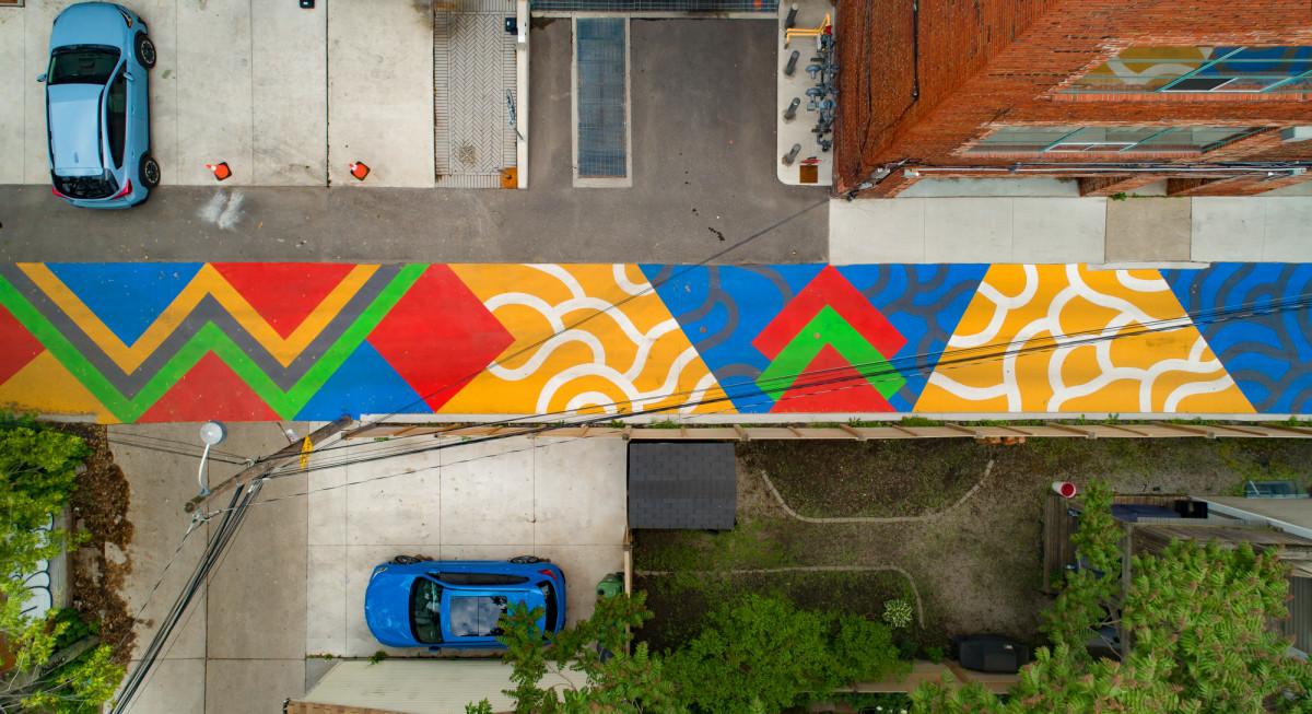 Artwork image for Laneway Park-ing Playable Road Mural