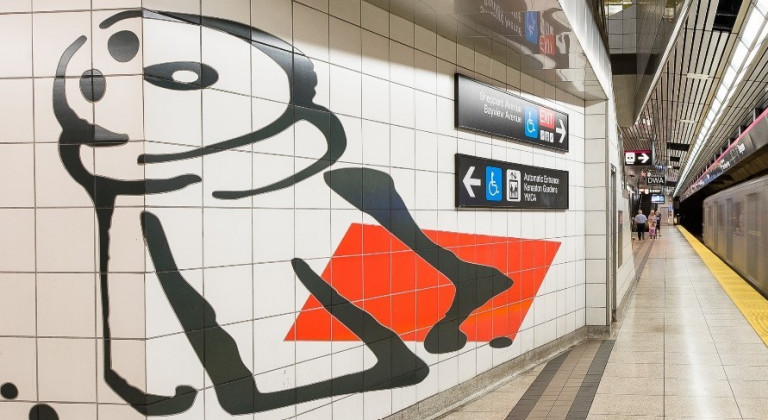Abstract mural in a TTC Station