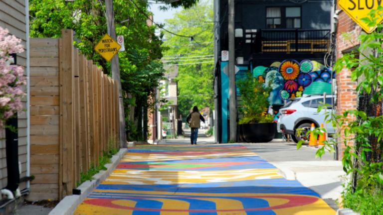 Healing Corridor and Playable Road Mural